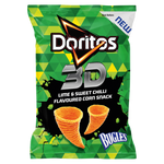 Doritos 3D Lime & Sweet Chilli Flavoured Corn Snack Bugles 100g