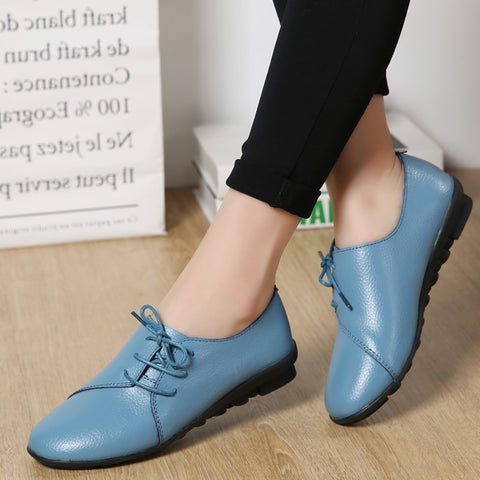 Women's Soft Leather Lace Up Shoes