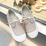 Soft Leather Women Lace Up Casual Shoes
