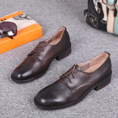 Women's Vintage Oxford Shoes