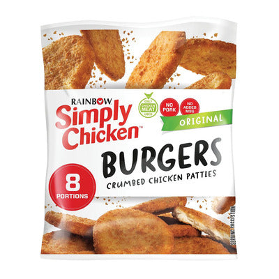 Rainbow Simply Chicken Crumbed Chicken Patties 8s