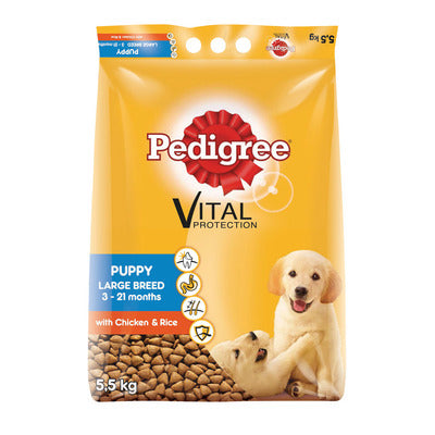 Pedigree Dog Food Puppy Large Breed Chicken & Rice 5.5kg