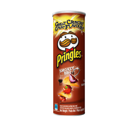 Pringles Smokey BBQ Potato Chips 110g