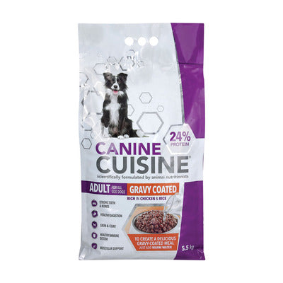 Canine Cuisine Adult Gravy Coated Dry Dog Food 5.5kg