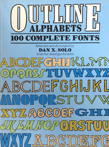 Outline Alphabets 100 Complete Fonts Dover