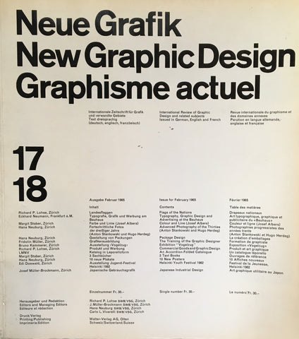 Neue Grafik/New Graphic Design/Graphisme actuel  no.17/18