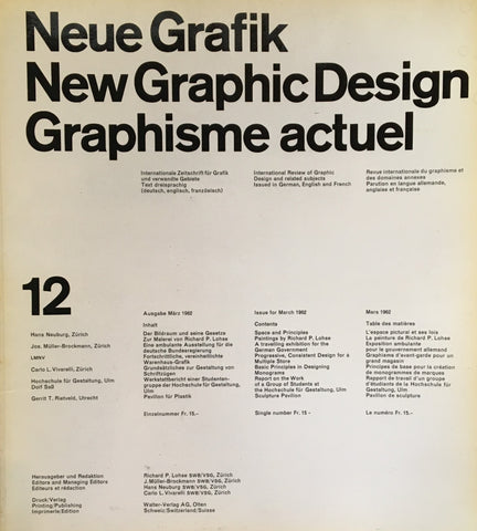 Neue Grafik/New Graphic Design/Graphisme actuel  no.12