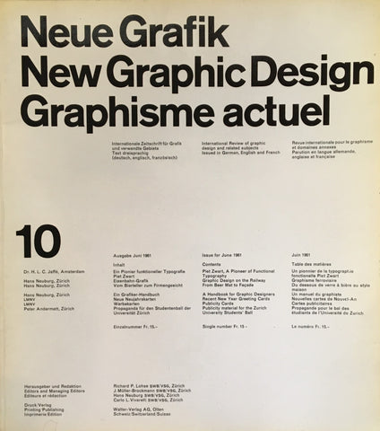 Neue Grafik/New Graphic Design/Graphisme actuel  no.10