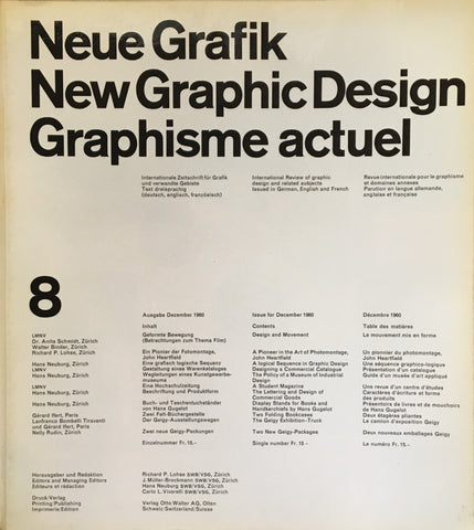 Neue Grafik/New Graphic Design/Graphisme actuel  no.8