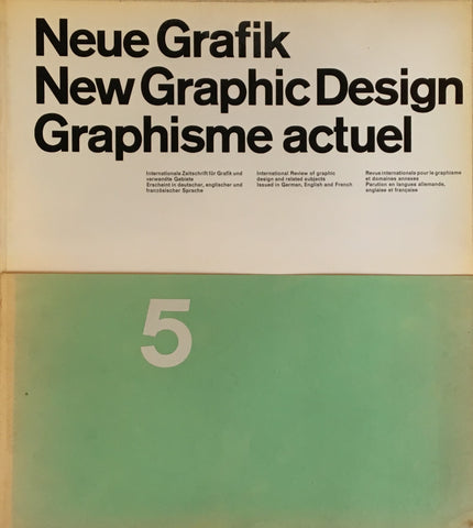 Neue Grafik/New Graphic Design/Graphisme actuel  no.5