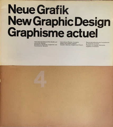 Neue Grafik/New Graphic Design/Graphisme actuel  no.4