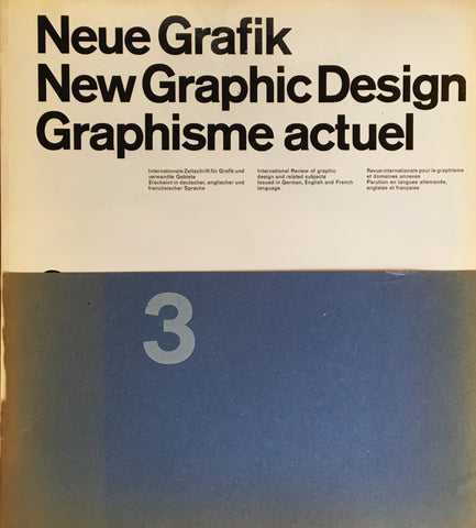 Neue Grafik/New Graphic Design/Graphisme actuel  no.3