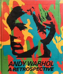 ANDY WARHOL  A RETROSPECTIVE  hardcover edition  edited by KYNASTON McSHINE