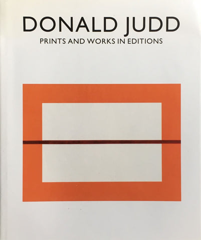 ドナルド・ジャッド Donald Judd prints and works in editions catalogue raisonne