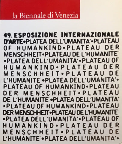 49esposizione international d'arte la biennale di venezia 2001 1・2 English Version