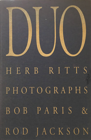 DUO Herb Ritts Photographs Bob Paris&Rod Jackson ハーブ・リッツ写真集