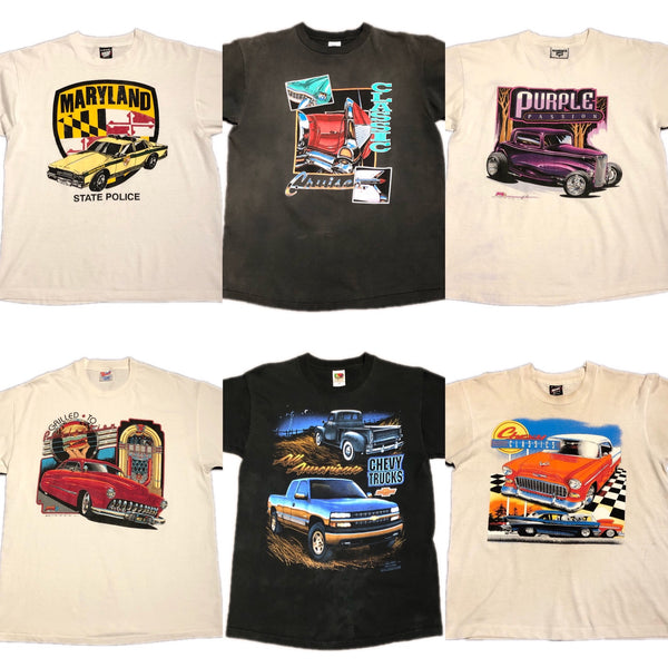 Vintage 80s/90s American Muscle Classic Car Tees 🏁💨