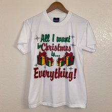 Load image into Gallery viewer, Vintage 90s All I Want For Christmas Glitter Tee