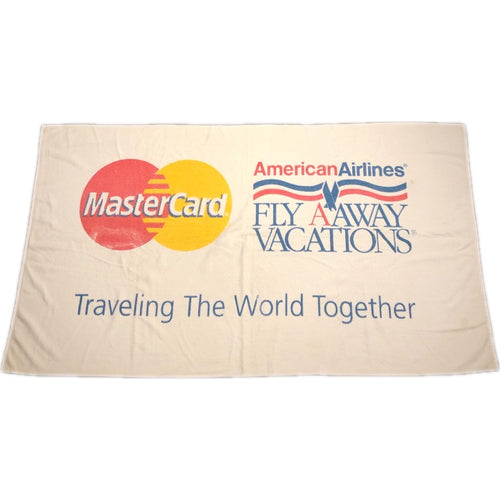 90s Master Card American Airlines Fly Away Vacation Beach Bath Towel