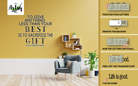 inspirational wall decal, easy to install decal, bedroom decal