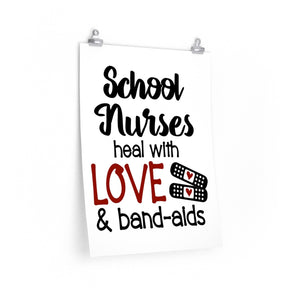 school nurse poster framable, School nurse print, School nurse clinic decor