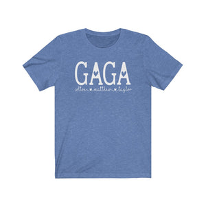 Personalized Gaga shirt with grandkid's names, Gift for Gaga, Cute Gaga t-shirt