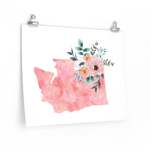 Home state of Washington poster, Washington wall art print, Washington watercolor poster