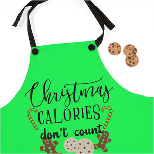 Christmas Calories don't count Apron, Christmas apron, Christmas cookie exchange gift, Christmas cookie apron, Christmas gift for baker, gift for someone who loves to bake