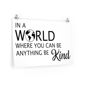 Be kind poster, inspirational school sayings poster, Classroom wall poster