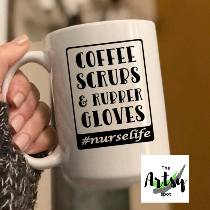 Coffee Scrubs & Rubber Gloves #nurselife