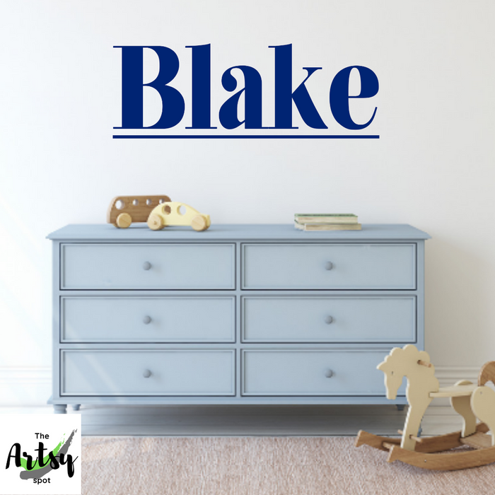 Boy's Bedroom Name Decal
