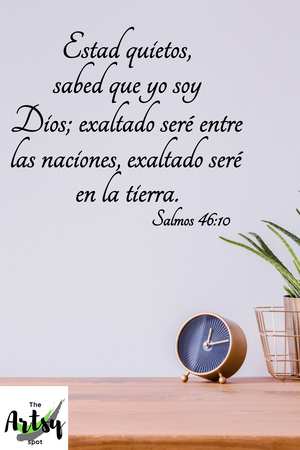 SPANISH decal Salmos 46:10, Christian decal in Spanish, Salmos decal in Spanish, Spanish Church decor, bible verse in Spanish, Spanish scripture