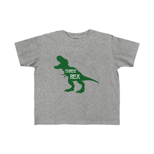 Three Rex shirt, 3rd birthday dinosaur shirt, t-rex 2 year old shirt