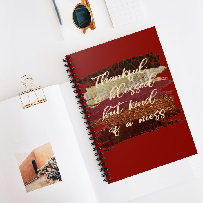 Thankful and Blessed but Kind of a Mess, Fall Notebook