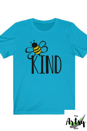 BEE kind shirt, Be kind shirt -  bumblebee shirt - The Artsy Spot