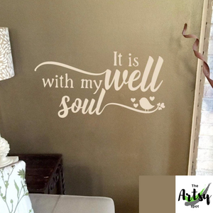 It is well with my Soul, wall decal for a Christian home, prayer room decal