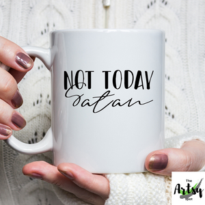 Not Today Coffee Mug, Christian coffee cup gift for a Christian friend