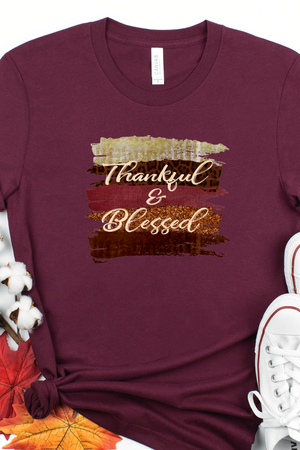 Thankful and blessed shirt, Thanksgiving shirt, Cute fall shirt, Thankfulness shirt, shirt for fall