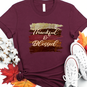 Thankful and blessed shirt, Thanksgiving shirt, Cute fall shirt, shirt with fall saying, shirt for fall