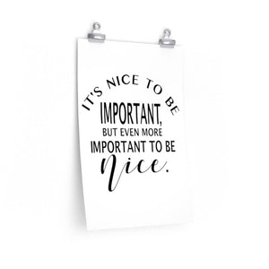 Be Nice Poster, high school classroom wall, corporate office decor, Doctor's office decor