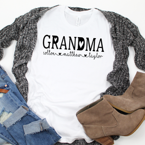 Personalized Grandma shirt with grandkid's names, New Grandma shirt, Grandma reveal shirt