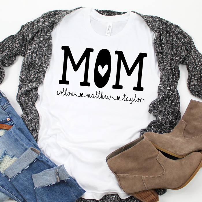 Personalized Mom shirt with kid's names