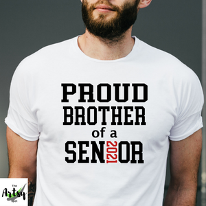 Proud brother of a 2021 senior t-shirt, brother of a graduate shirt, senior brother shirt, graduation shirt for brother, Senior family photos