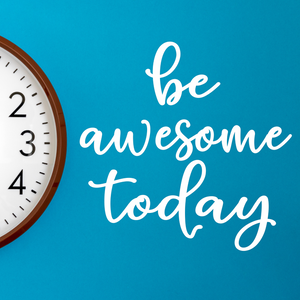 Be Awesome Today Decal, Back to school decal, Inspirational quote for school