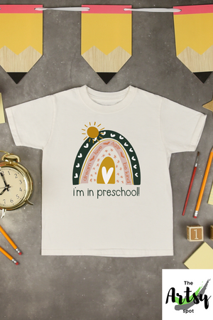 1st day of Preschool shirt, I'm in preschool shirt, shirt for preschool kids, The Artsy Spot