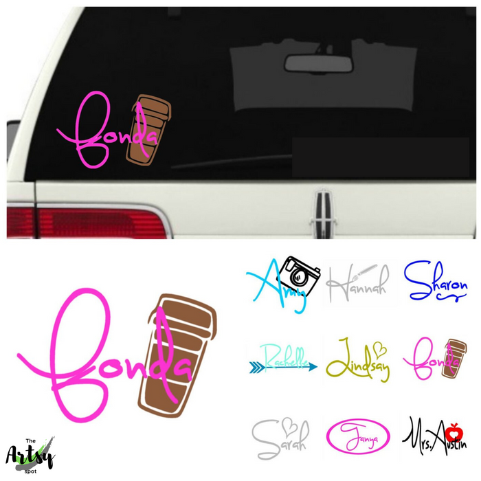Car window Name Decal