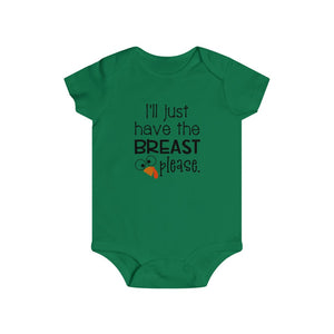 I'll just have the breast please, infant bodysuit, Baby Thanksgiving onesie, Thanksgiving bodysuit, Thanksgiving baby gift, infant bodysuit for fall