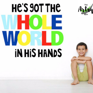He's Got the Whole World in His Hands Wall Decal - The Artsy Spot