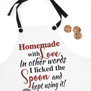 Homemade with Love Apron, funny apron, apron gift for a cook, gift for a baker, funny mom gift, kitchen apron