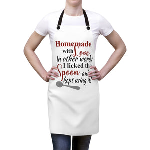 Homemade with Love Apron, funny apron, apron gift for a cook, gift for a baker, funny mom gift, Funny cooking apron for baking, baker gift
